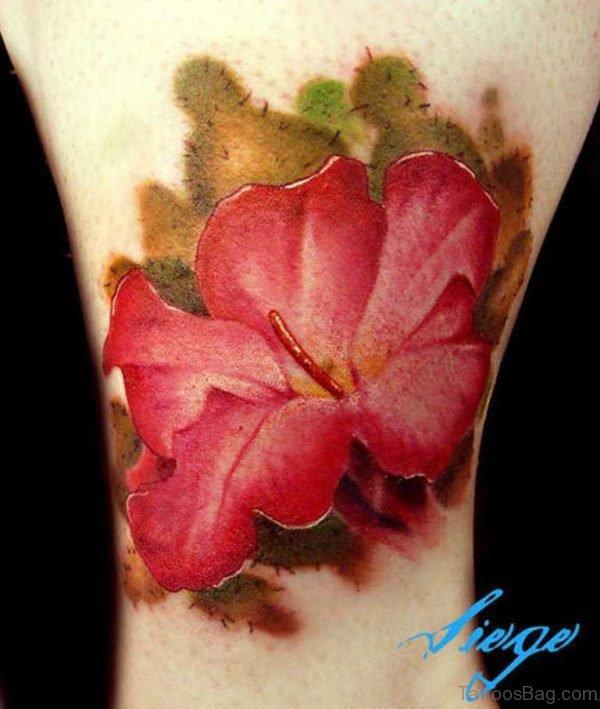 Glorious Wrist Flower Tattoo