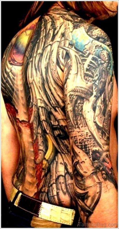 Good Looking Biomechanical Tattoo