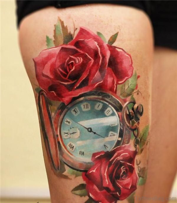 Good Looking Rose Tattoo