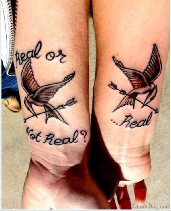 Graceful Birds Tattoo On Wrist