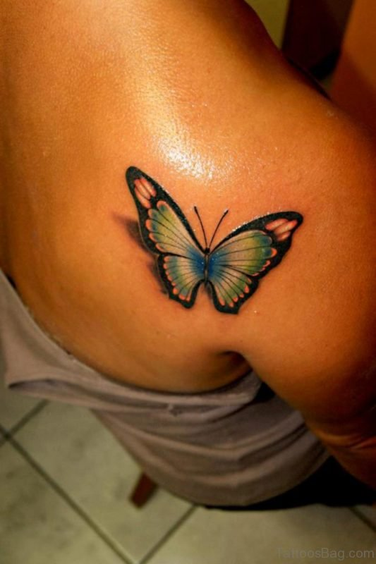 Graceful Butterfly Tattoo