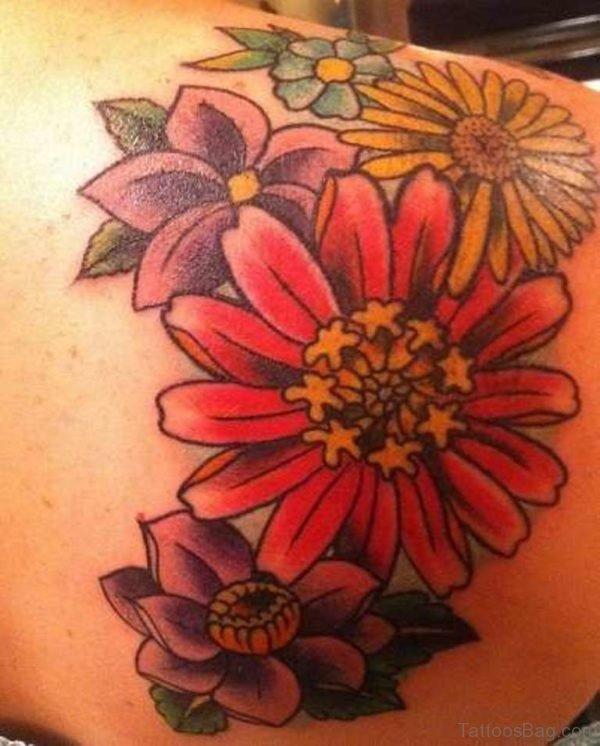 Graceful Flower Tattoo Design