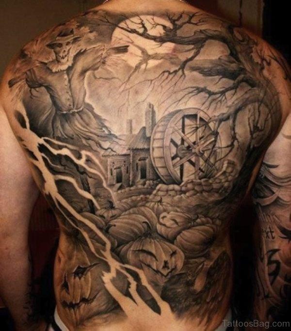 Graceful Full Back Tattoo