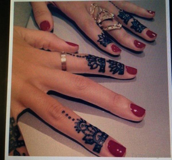 Graceful Henna Flower Tattoo