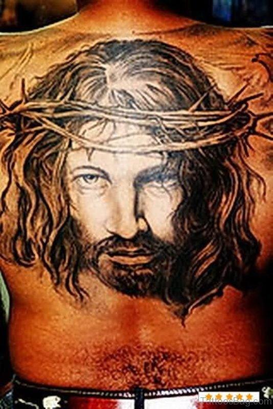 Graceful  Jesus Tattoo