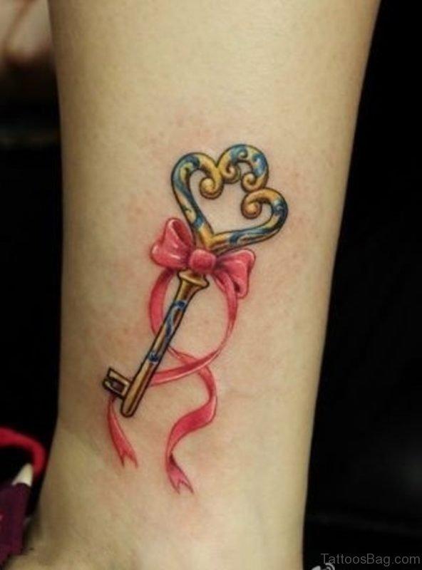 Graceful Key Tattoo