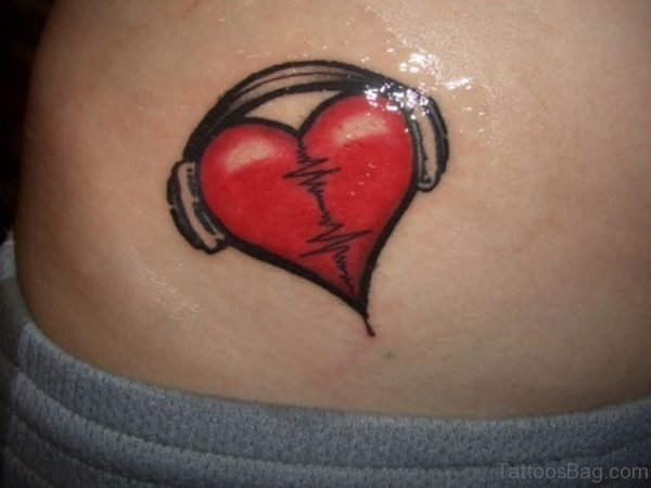 Graceful Love Heart Tattoo