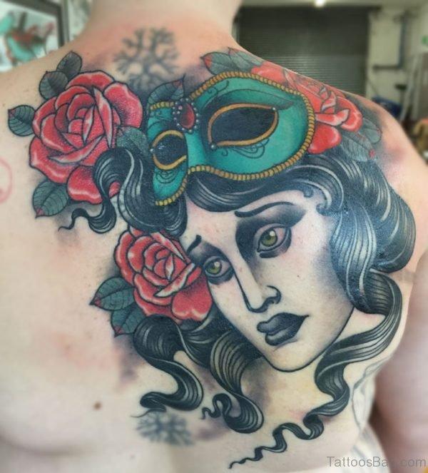 Graceful Mask Tattoo
