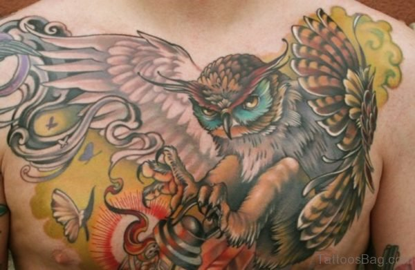 Graceful Owl Tattoo