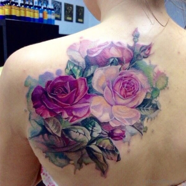 Graceful Rose Tattoo