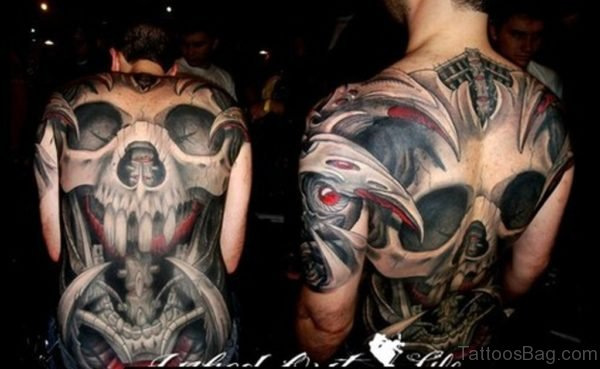 Graceful Skull Tattoo