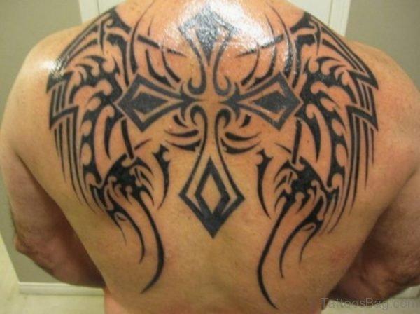 Graceful Tribal  Cross Tattoo