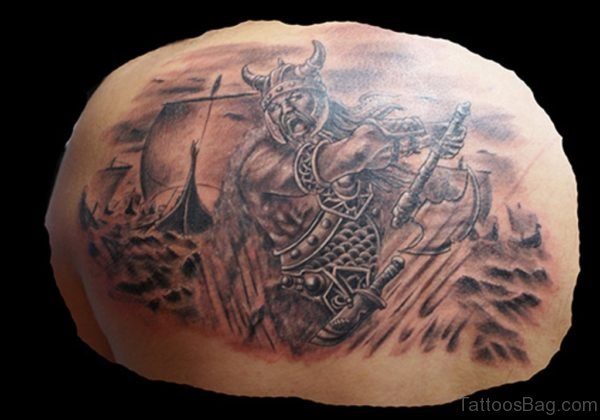 Graceful Viking Tattoo