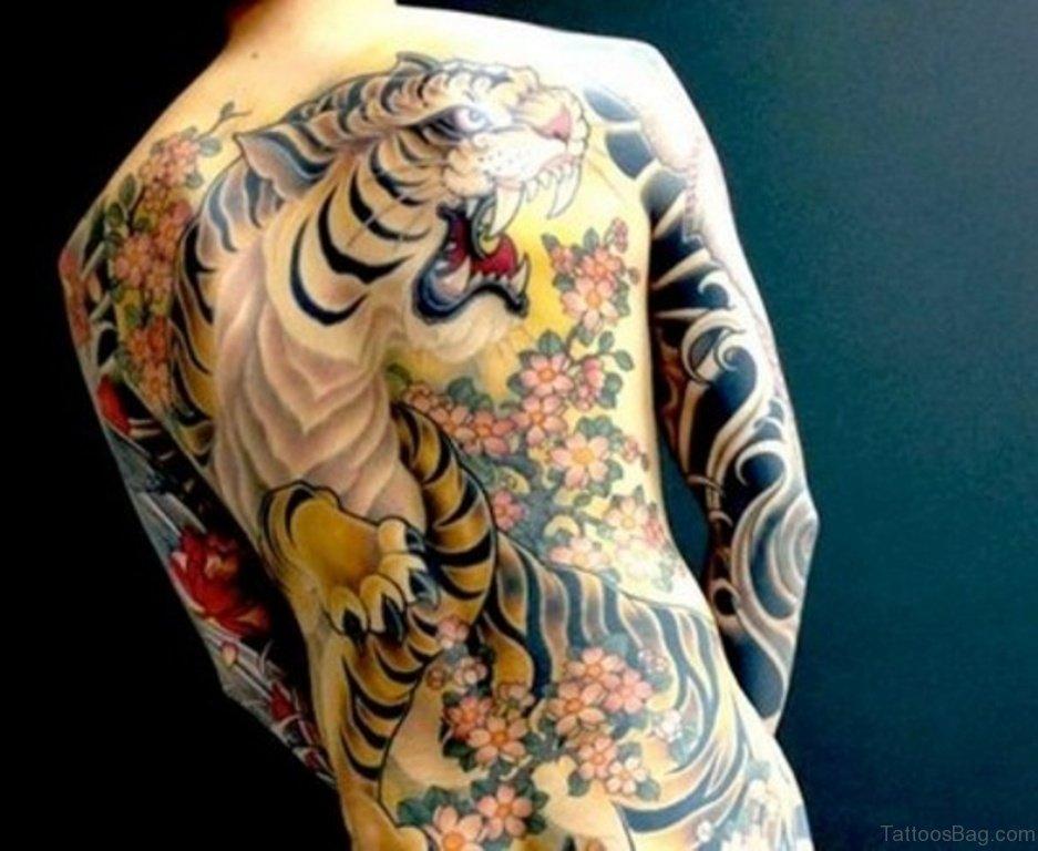 60 wild tiger tattoos for back. Black Bedroom Furniture Sets. Home Design Ideas
