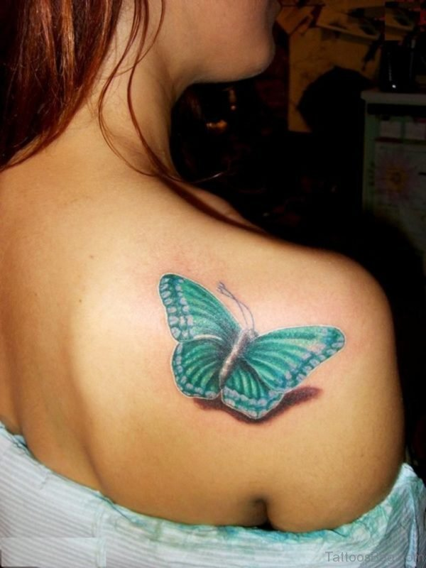 Green Butterfly Tattoo