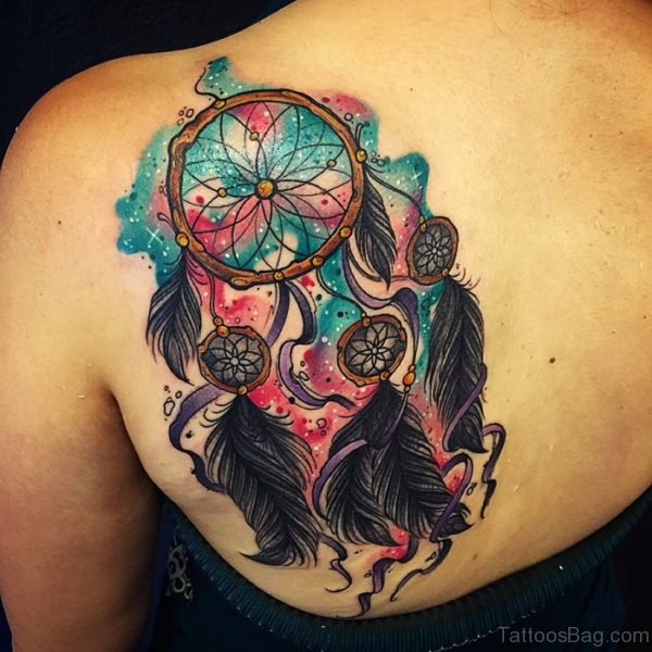 Green Dream Catcher Tattoo