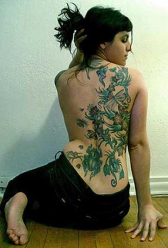 Green Flower Tattoo