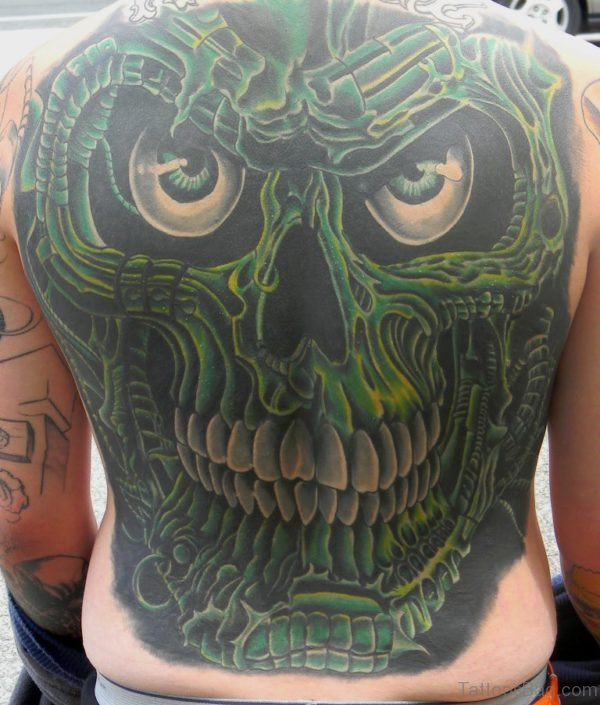 Green Skull Tattoo