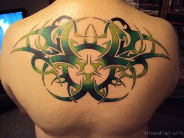 Green Tribal Tattoo