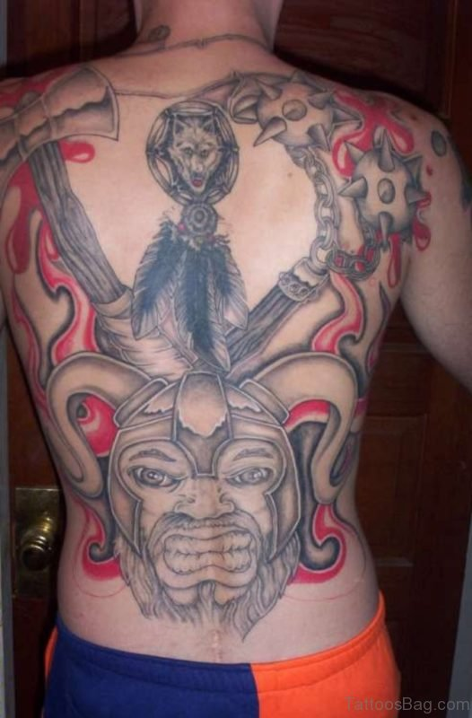 59 alluring viking tattoos for back for Pink ink tattoo