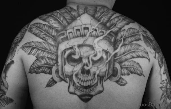 Grey Aztec Tattoo