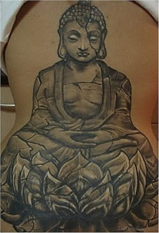 Grey Buddha Tattoo