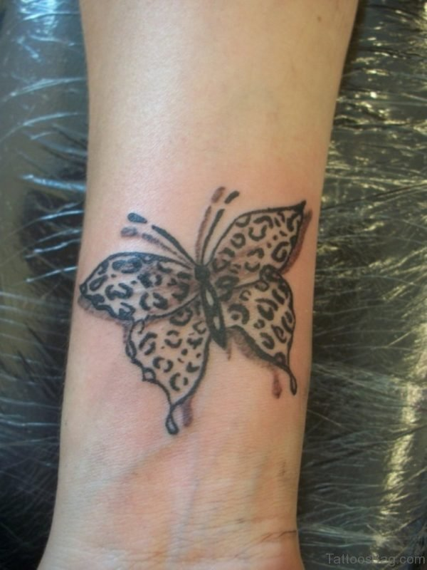 Grey Butterfly Tattoo