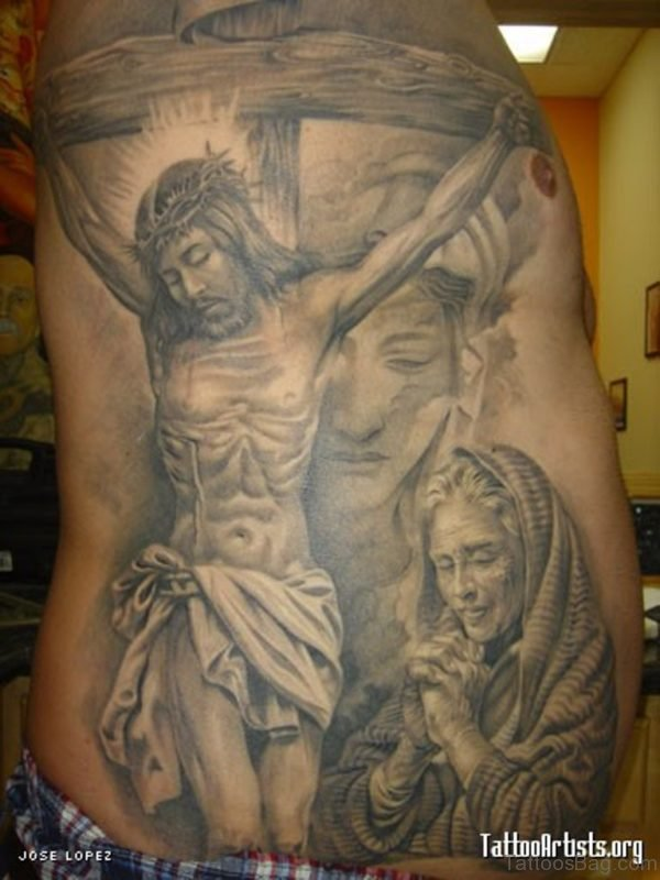 Grey Jesus Tattoo
