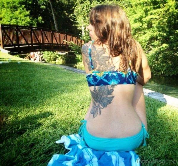 Grey Leaf Tattoo