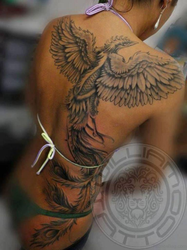 60 Fine Phoenix Tattoos For Back