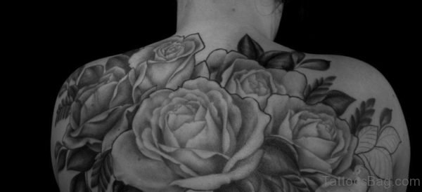Awesome Grey Rose Tattoo