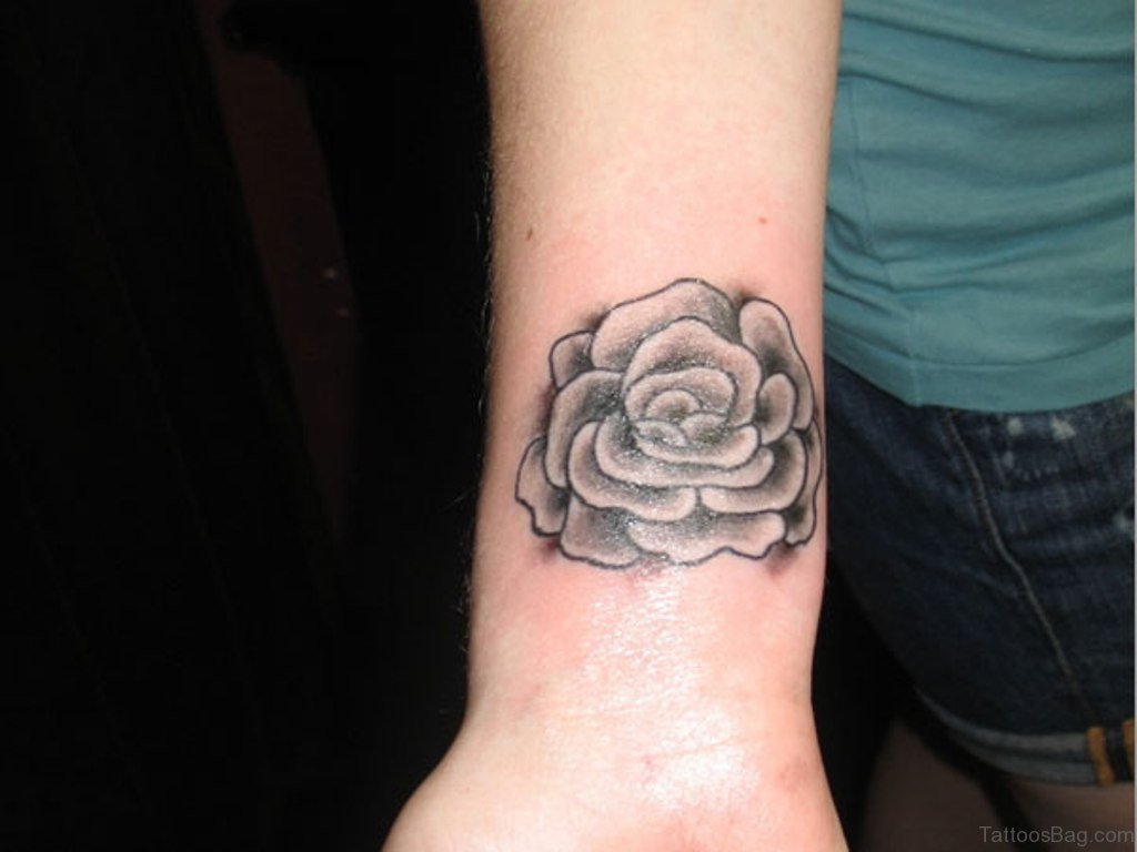 52 wrist colorful rose tattoo designs for Tattoos in wrist