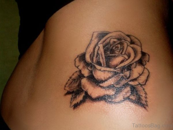 Grey Rose Tattoo Design
