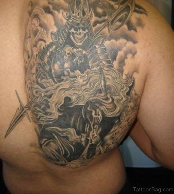 Grey Shoulder Tattoo