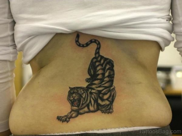 Grey Tiger Tattoo Design