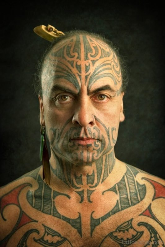 Grey Tribal Tattoo For Men