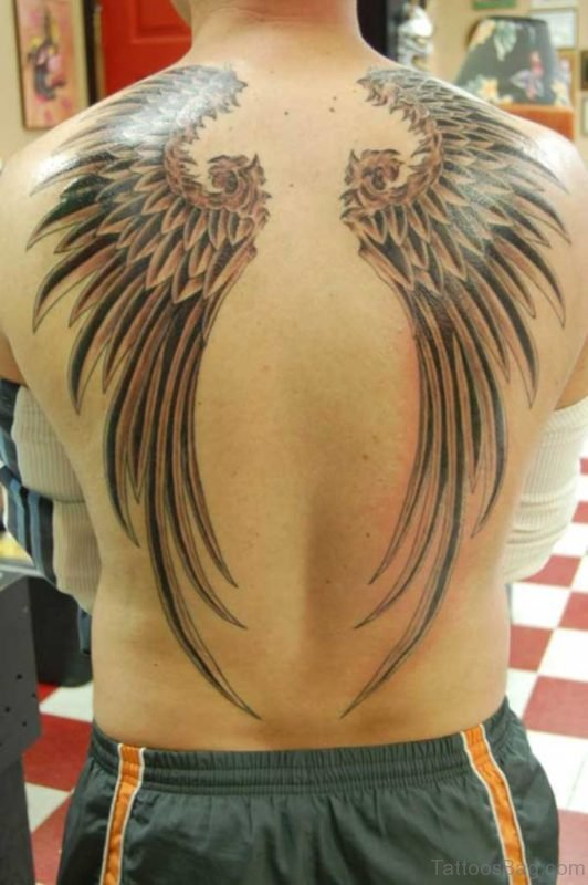 Grey Wings Tattoo