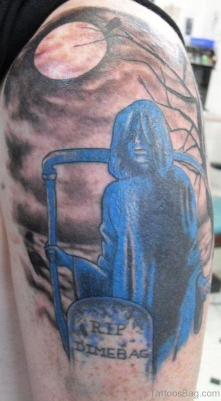 Grim Rip Skin Tattoo