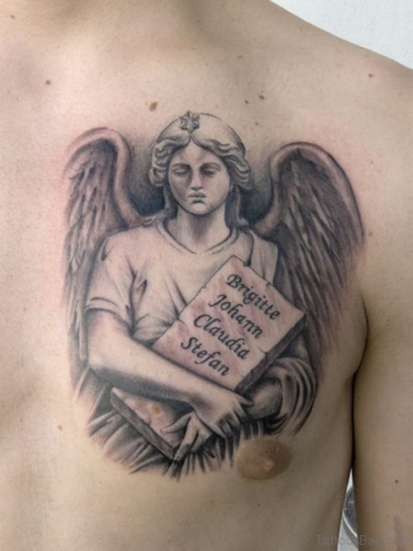 Guardian Angel On Chest