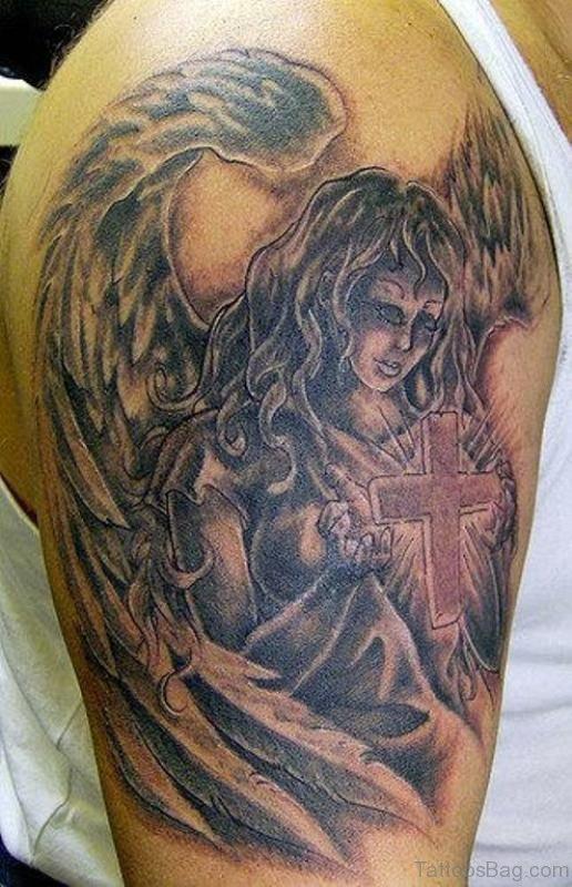 Guardian Angel Shoulder Tattoo