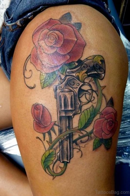Guns And Roses Tattoo