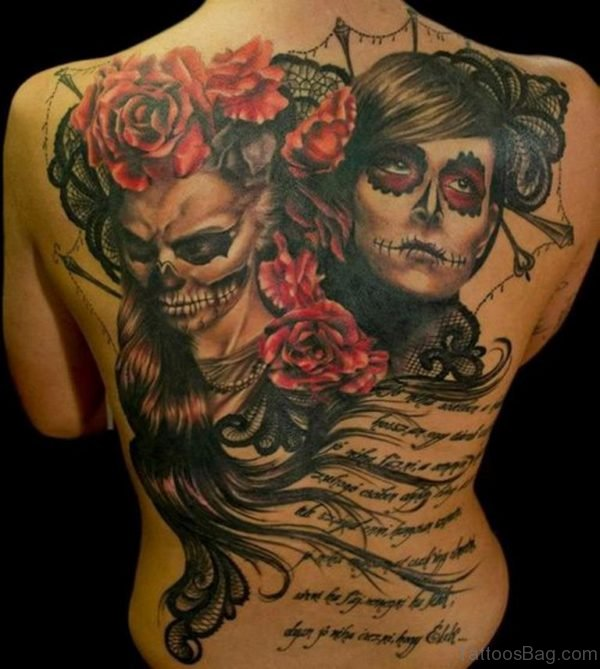 Gypsy Girls And Skull Tattoo