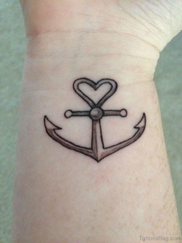 HD Wrist Anchor Tattoo