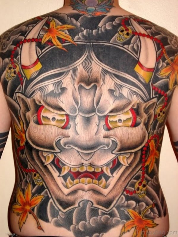 Hannya Mask Tattoo For Men
