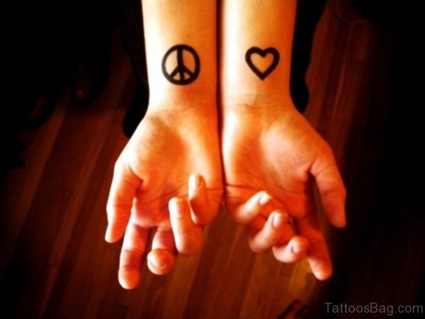 Heart And Peace Tattoo