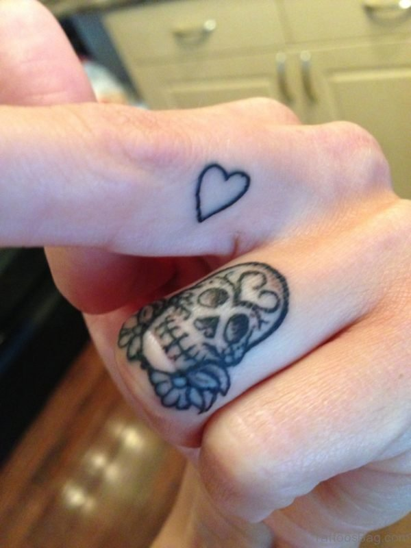 Heart And Skull Tatto