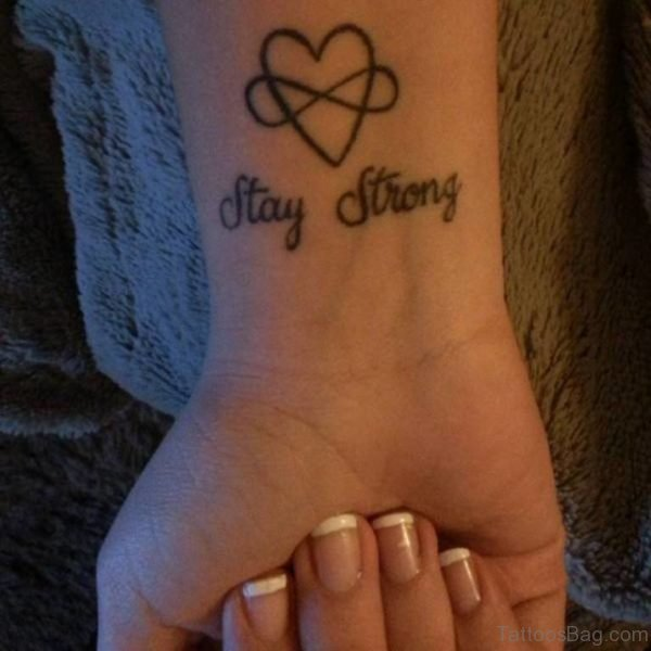 Heart And Wording Tattoo