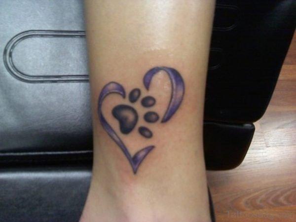 Heart Paw Tattoo