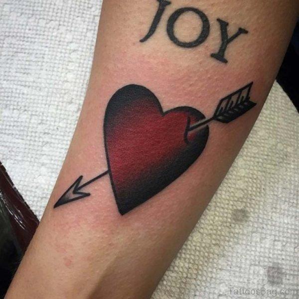 Heart Stitched Tattoo On Wrist