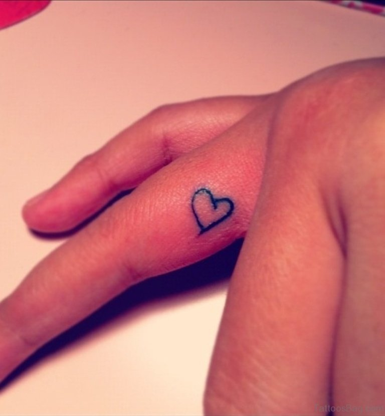 59 small heart tattoos on finger for Finger tattoo cost
